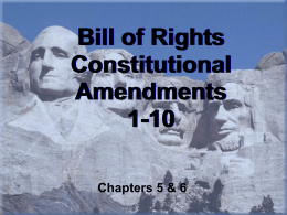 Bill of Rights Constitutional Amendments 1-10