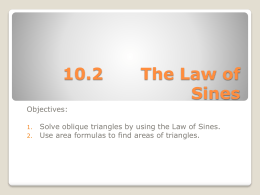 10.2 The Law of Sines