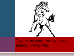 Trinity Meadows Intermediate School Information