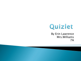 What is Quizlet? - CHMSMediaCenter