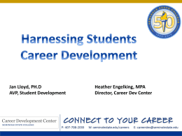 Harnessing Students Careers (ppt)