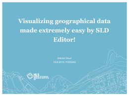Visualizing geographical data made extremely easy by SLD Editor!
