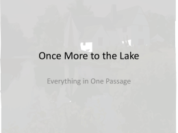Once More to the Lake - Wiki-cik