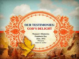 PowerPoint - Adventist Women`s Ministries