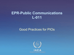 L-011 Good Practices for PIOs - IAEA Publications