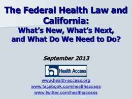 Local Advocacy for State and Federal Health Reform