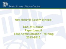 2015-2016 EOC/Paper Pencil Power Point
