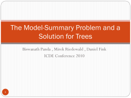 The Model-Summary Problem and a Solution for Trees