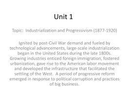 Unit 1 Chapter 5 Progressives