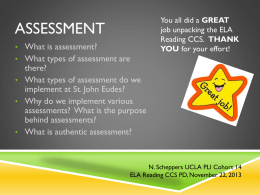 different types of assessment in the education system Transition assessment (ta): an assessment of combination of the following types: paper and pencil tests, structured student and family interviews, community or work-based assessments (situational) and curriculum-based assessments these assessments or procedures come in two general formats – formal and informal.