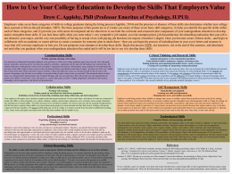 How to Use Your College Education to Develop