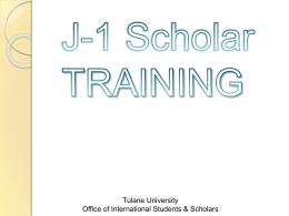 F-1 Training - Tulane University