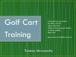 Golf Cart Policy - Tulane University