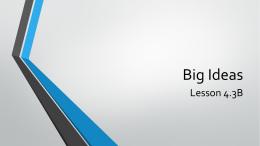 Big Ideas 4.3B