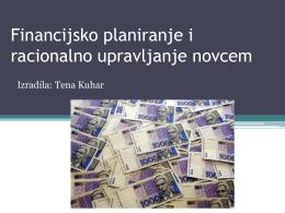 Financijsko planiranje i racionalno upravljanje novcem