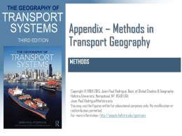 Methods in Transport Geography