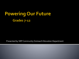 Powering Our Future Grades 4-6 and 6-8 Combined Module