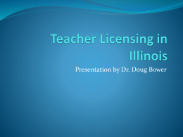 Teacher Licensing in Illinois