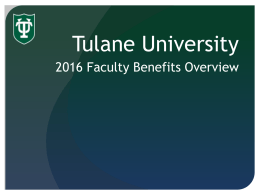 2016 Faculty Benefits Presentation