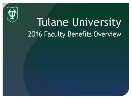 2016 Faculty Benefits Presentation