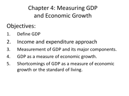Ch.4: Measuring GDP and economic growth