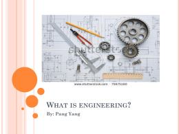 What is Engineering Presentation - pyang-653