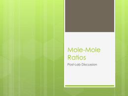 Mole Ratios Post