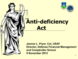Anti Deficiency Act