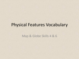 Physical Features Vocab