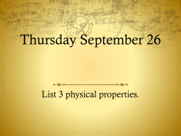 Thursday September 26