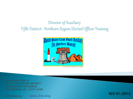 Director of Auxiliary Fifth District Northern Region
