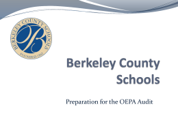 OEPA Presentation - Berkeley County Schools