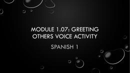 Module 1.07: Greeting others