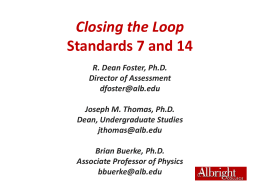 Closing the Loop on Standards 7 and 14