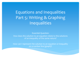 Equations and Inequalities Part 2: Identifying Solutions to Equations