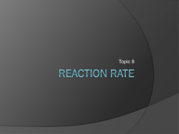 Reaction Rate - Calgary Christian School