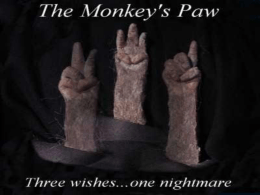 The Monkey`s Paw with definitions