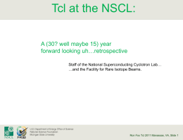 nscltcl-presentation - Tcl Community Association