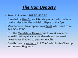 What did the Han borrow from Confucianism, Daoism and Legalism?