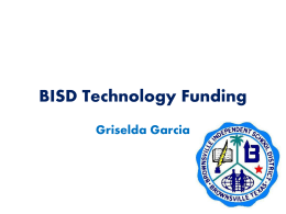BISD Technology Funding - Butler at UTB / FrontPage