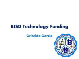 BISD Technology Funding - Butler at UTB / FrontPage
