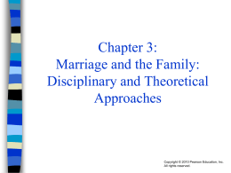 Chapter 3: Marriage and the Family