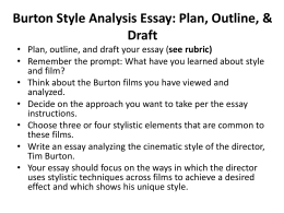Burton Style Analysis Essay Instructions