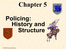 Chapter V - History of Law Enforcement