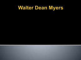 Walter Dean Myers - Vance Cameron Holmes
