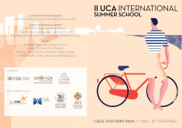 ii uca international - UCA International Summer School