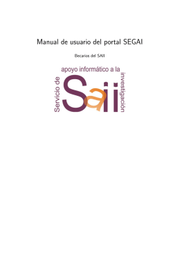 Manual de usuario del portal SEGAI