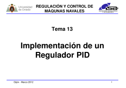 Implementación de un Regulador PID Regulador PID