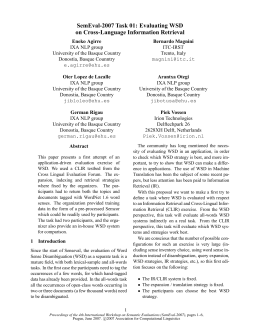 SemEval-2007 Task 01 - Association for Computational Linguistics