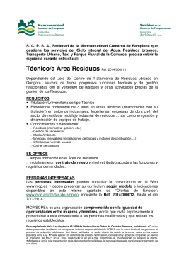 requisitos - Mancomunidad de la Comarca de Pamplona